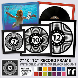 """Record Frame 7"""" 10"""" 12"""" inch Vinyl Cover Wood Black White Colours Picture FRAMES"""