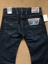 "REPLAY BILLSTRONG Men's Regular Fit Dark Blue Jeans, Size Tall W29"", L34"", £150"