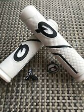 Prologo Light Weight Mountain Bike Handle Bar Grips White with Bar Ends 20mm dia