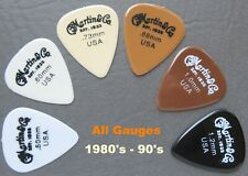 Vintage Guitar Picks - 6 Martin & Co. Nylon  Picks Full Set All Gauges