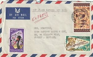 1972 Nigeria cover sent from Lagos to Slough England