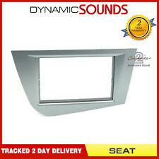 CT24ST28 Stereo Double Din Fascia Panel Brilliant Silver For Seat Leon 2005> Mk2