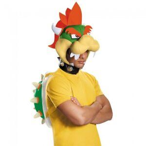 Disguise Super Mario Bros Bowser Kit Luigi Peach Adult Halloween Costume 85231AD