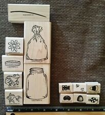 Stampin Up 2 Sets ALL WRAPPED UP & ALL WRAPPED UP ACCESSORIES Rubber Stamps Lot