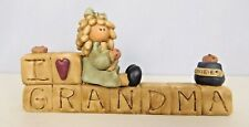 I Love Grandma - New resin block with cookie jar etc. - Blossom Bucket #26862