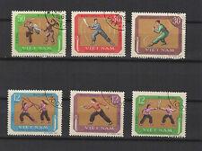 arts martiaux 1967 Viêt Nam une série de 6 timbres / T1683