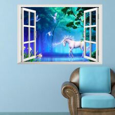 3D Wonderland Unicorn Room Home Decor Removable Wall Stickers Decals Decoration