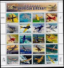 US AVIATION 1997 SCOTT 3142 CLASSIC AMERICAN AIRCRAFT 20 MVF 32c STAMP SHEET SET