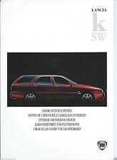 Lancia Kappa K SW LS LX Turbo Colour Colori Vetture E Interni Brochure 1998