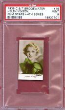 1935 C T BRIDGEWATER Film Card #16 HELEN VINSON Beaumont TEXAS Actress PSA 9