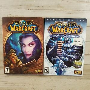 World of Warcraft PC Lot the Original World of Warcraft & Wrath of the Lich King