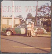 Vintage Car Photo Man & Woman w/ Camo 1964 Plymouth Wagon 744537