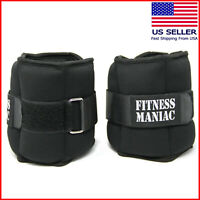 Adjustable Strap Ankle Wrist Weights Fitness Training Leg Exercise 10 lb