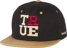 True SPIN 4 Letters True Snapback Cap Black Beige Uomo Nuovi TRUESPIN taglia unica