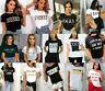 Womens Ladies Short Sleeve Slogan Hot Printed Fashion Summer TShirt Tops 8-18 uk