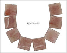 8 Muscovite Common Mica Flat Square Beads 18mm #85393