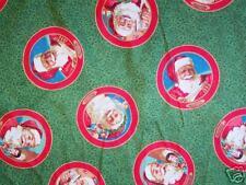 Daisy Kingdom Fabric Century of Santa Faces Fabric BTY