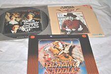 "Lot 3 Westerns Movies 12"" Laserdisc--Butch Cassidy-Blazing Saddles-Urban Cowboy"