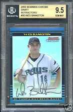 "BGS 9.5 2002 Bowman Chrome ""Refractor"" WES BANKSTON RC"