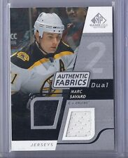 2008-09 UPPER DECK SP GAME USED MARC SAVARD UD DUAL AUTHENTIC FABRICS JERSEY
