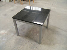 Granite topped coffee table on metal frame 60x60cm