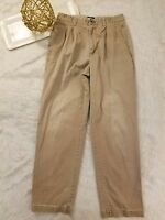 Tommy Hilfiger Mens Pants Size 30 Chino Pleated Brown Vintage