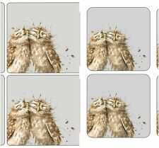The Twits Owl Table mats place mats and Coasters Wrendale Designs SET OF 6 Owls