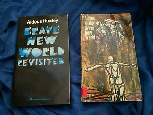 Brave New World & Brave New World Revisited by Aldous Huxley Lot of 2 Early Edit