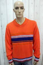 TOMMY HILFIGER Taglia XL Uomo Maglione Lana Sweater Pullover Maglietta Pull