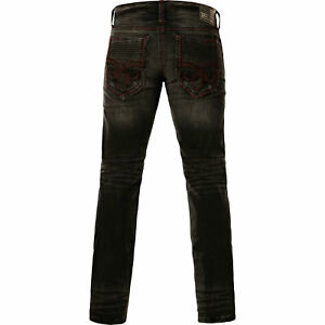 Affliction Jeans Ace Fleur Nigh in black SIZE 31  STYLE # 110SS227