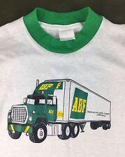 True Vintage 80s ABF Freight Trucking Graphic Semi 18-Wheeler Ringer T-Shirt S/M