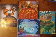 Lot of 4 children's picture books  HALLOWEEN theme