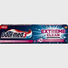 3x 75 ml Odol-med 3 Extreme Clean Tiefenreinigung Zahnpasta NEU + OVP