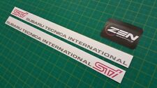 Subaru Impreza classic GC8 STI WRX Door decals stickers grey version any colours
