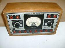 Vintage Radio City Products Co Multimeter Model 447 Ohm Volt Meter Wooden Box