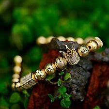 Fashion Luxury Men Micro Pave CZ Polygon Crown Braided Adjustable Bracelets Gift