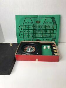 VINTAGE ROULETTE-O-MATIC (JAPAN) CASINO GAMBLING WHEEL GAME  NEVER USED