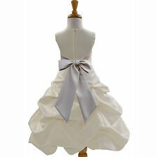 IVORY PRINCESS PARTY DRESS FLOWER GIRL BIRTHDAY PAGEANT BRIDAL WEDDING HOLIDAY