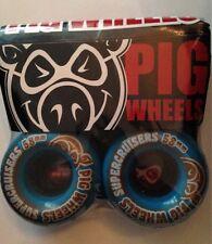 PIG RUOTE SKATEBOARD SUPER INCROCIATORI WHEELS 58mm Blu Maiale supercuiser Wheels