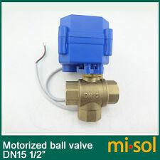 3 way motorized ball valve DN15 (reduce port), electric ball valve( T Port),