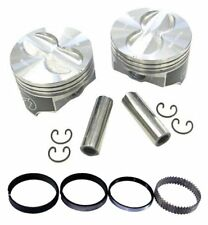 Speed Pro H616CP30 Chevy 400 406 Flat Top Hyper Pistons & Moly Rings Kit 030 SBC