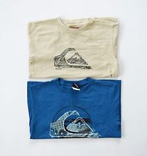 Quiksilver Youth Set of 2 Short Sleeve Tees - Khaki/Blue sz L