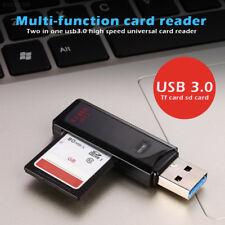 E7DE USB 3.0 lector de tarjetas comprimidos PC SD/TF USB adaptador de red Jack durable