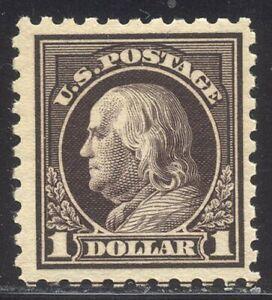 U.S. #478 SCARCE Mint - $1.00 Vio Black, P10, Unwmkd ($600)