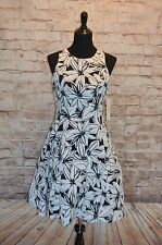 Modcloth Elated Illustrator Dress NWTD Sz 8 $160 Maggy London Floral fit & flare