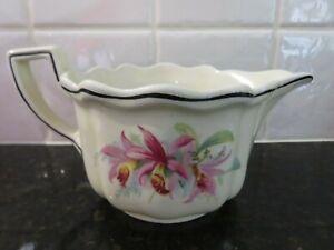 Royal Doulton Orchid Design D5215 Gravy Jug, Cream Colour, Made In England.
