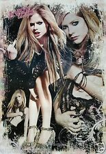 "Avril Lavigne ""3-Shot Collage-Giving Finger, Holding Breast!"" Asian Music Poster"