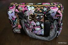 NWT Tokidoki X Hello Kitty BLACK DIAMONDS Rare LARGE HANDBAG w/ charm USA Seller