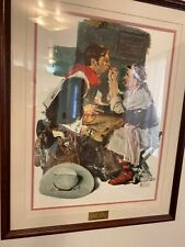 Norman Rockwell Limited Edition print The Texan with certificate of authenticity