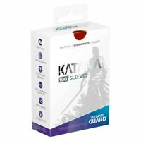 Ultimate Guard Katana Card Sleeves - Red - 100 Count - 66x91mm Standard Size